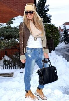 winter magic  , Gianfranco Ferre in Jackets, Zara in Jeans, Ugg Australia in Hats, Timberland in Boots