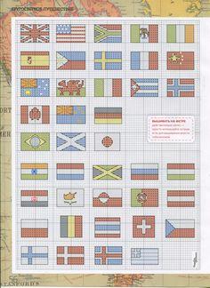 Cross stitch pattern - flags