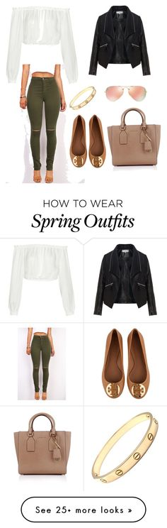 """""""casual spring day time outfit"""" by kamolaf on Polyvore featuring Elizabeth and James, Zizzi, Tory Burch, Michael Kors, Cartier, Ray-Ban, women's clothing, women, female and woman"""