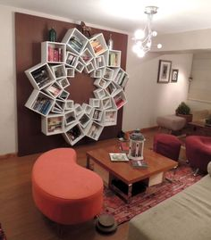 DIY Wall Art/Shelves - You can buy these pre-made cubes at a craft store or build them yourself. #mandala