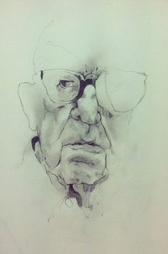 Viejo. Pencil Draw.  210 x 148 cm. | Héctor Torres | #draw #art #portrait #retrato #arte #dibujo