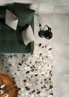 Terrazzo is currently trending throughout the design world. Reminiscence of terrazzo tile can be found in ancient temples which date all the way back to ancient Egypt and Rome. Floor Patterns, Tile Patterns, Floor Design, Tile Design, Best Interior, Interior And Exterior, Terrazzo Tile, Tiling, Interior Design Inspiration
