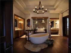 #KevinJames' Delray Beach Mansion: Spacious Bathroom>> http://www.frontdoor.com/photos/tour-kevin-james-delray-beach-home?soc=pinterest