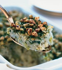 Cauliflower-Leek Kugel with Almond-Herb Crust