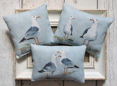 Seagull print lavender bags