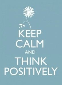 Yoga Quotes - Keep calm and think positively