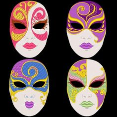 FANTASY CARNIVAL MASKS -- 36 Designs Machine Embroidery Design Pack (A | AzEmbroideryBarn - Patterns on ArtFire