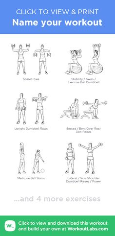 Name your workout –click to view and print this illustrated exercise plan created with #WorkoutLabsFit