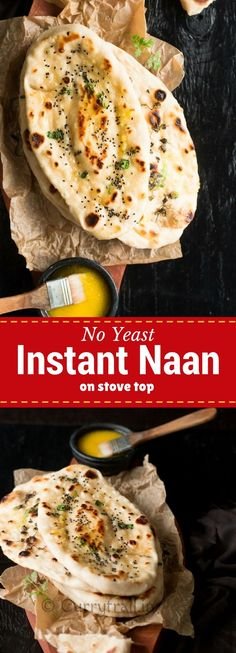 4 Points About Vintage And Standard Elizabethan Cooking Recipes! Learn How To Make Homemade Naan Bread. Naan Is An Indian Flatbread That Is Usually Cooked In A Tandoori Oven. This Easy Naan Bread Recipe Can Be Made At Home On A Stove Top It Is Even Better Naan Recipe Without Yeast, Bread Without Yeast, No Yeast Bread, Easy Naan Bread Recipe No Yeast, Homemade Naan Bread, Recipes With Naan Bread, Indian Food Recipes, Vegetarian Recipes, Cooking Recipes