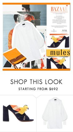 """""""Deja Vu"""" by arohii ❤ liked on Polyvore featuring Chloé, Burberry, trends, mules and polyvorefashion"""