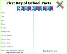 Print this First Day of School Memory Page and capture your child as they head back to school this year!