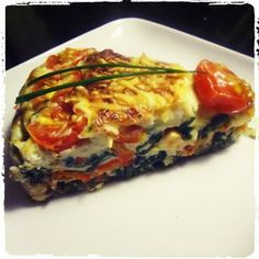 Superslanke After-work out Dish: Quiche zonder korst paleo lunch nederlands Good Healthy Recipes, Low Carb Recipes, Cooking Recipes, Love Food, A Food, Food And Drink, Quiches, Healthy Diners, Weigt Watchers