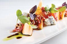 Prosciutto melon gorgonzola salad at Mereday's Fine Dining on Naples Bay.