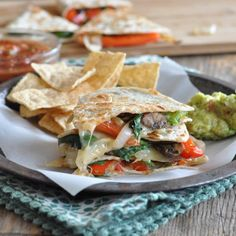 Vegetarian Quesadillas with Jalapenos recipe & photo by @nutritiouseats…