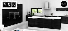 www.skabdinbolig.dk har køkkener i mange forskellige fronttyper, hvilket betyder du selv kan designe dit køkken, så det passer med dine forventninger og smag. Lige nu kan du få 40% på flere fronttyper, herunder Sort Struktur. Se sortiment og priser på www.skabdinbolig.dk