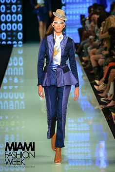 Miami Fashion Week 2014 AOS Eastern Airlines Competition.  Hat by Elaine Scantlen