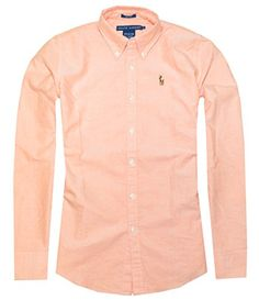 Image result for ralph lauren orange oxford shirt womens