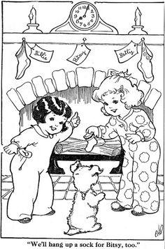 Countdown to Christmas - 2 Days    Big Big Paint Book, Whitman Publishing, 1936