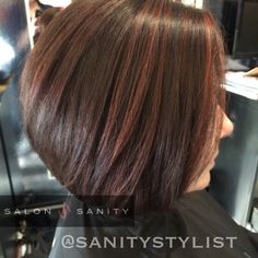 Cocoa brown and cinnamon highlights