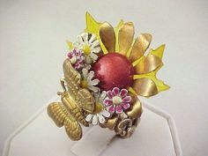 OOAK RePurposed Fantasy Fairy Brass Tone Butterfly by holyinspired, $34.95