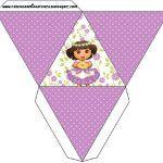 Caixa Pirâmide Dora Aventureira Fofa: Party Kit, Sweet Like Candy, Cute, Moldings, You Complete Me, Fiestas, Printables