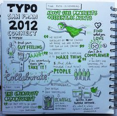 event notes should look like this one for Tina Roth Eisenberg's talk at TYPOSF (via tattly)