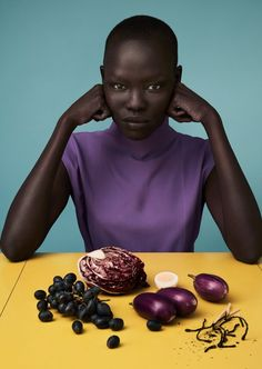 """midnight-charm: """" Grace Bol photographed by Solve Sundsbo for Luncheon March 2017 Stylist: Mattias Karlsson Hair: Chisato Yamamoto Makeup: Polly Osmand """""""