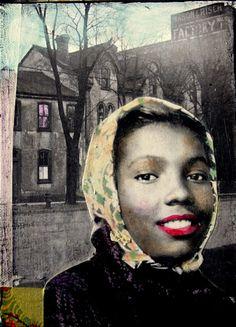 Lily Rose African American original  vintage by MaudstarrArt.