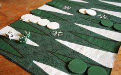 "Handpainted Backgammon Set ""CUSTOM"""