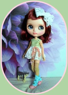 Adorable Blythe doll outfit* 6 pieces* dress* socks* shoes* dress hanger*