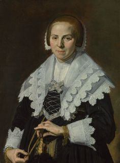 Portrait of a Woman with a Fan  about 1640, Frans Hals