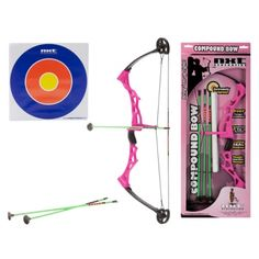 Toy Compound Bow & Arrow Set for Girl's