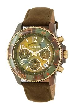 Camo Case Leather Strap Watch by Isaac Mizrahi on @nordstrom_rack.... camo done right!