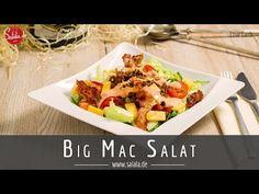 Dieser Low Carb ➤ Big Mac Salat wird Dich aus den Socken hauen. Hackfleisch, Käse, Bacon, Tomaten, Salat und eine absolut hammermäßige Soße!