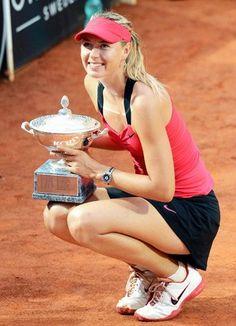 Maria Sharapova, la más bella tenista del mundo, ganando el Roland Garros 2012.