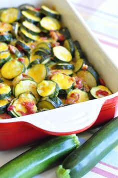 Zucchini Tomato Bake, Great way to use zucchini, easy to make, not many ingredients, quick side dish!