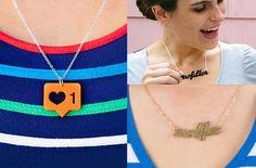 Soc media icons as pendants, earrings, etc...