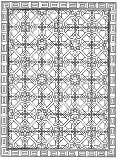 Page 12 from Decorative Tile Designs by Marty Noble Pattern Coloring Pages, Cool Coloring Pages, Free Printable Coloring Pages, Free Coloring, Adult Coloring Pages, Coloring Books, Geometric Coloring Pages, Coloring Sheets, Repeating Patterns