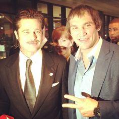 Between Ovi and Pitt.I'd pick Ovi ; Washington Capitals Jersey, Alex Ovechkin, Nhl Players, Hockey Teams, Brad Pitt, Superstar, Pride, Entertainment, Celebrities