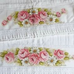Embroidery Patterns, Marie, Shabby Chic, Lily, Hand Painted, Flowers, Paintings, Towel Crafts, Diy And Crafts
