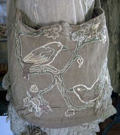 Magnolia Pearl Embroidered Linen Garden Bag  $298   by Society Hill Designs