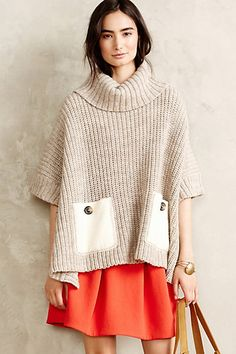 Love this slouchy, comfy looking sweater.  I live pockets and cowl necks too!