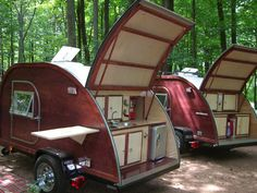 """Based on the designs of the 40's and 50's, BIG WOODY CAMPERS teardrop trailers arebuilt to provide years of enjoyment and a """"look"""" that wil..."""