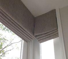 bay window roman blinds - Google Search