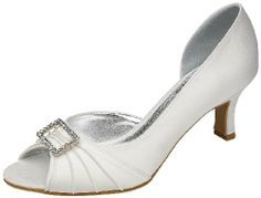 Lexus Designer Shoes - Christina Ivory Satin Diamante Sandals Snuggle Shoes