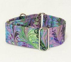 Martingale Collar Marbled Blue and Purple Galgo by GramaryeCottage, $21.00