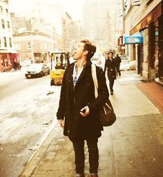 Aaron Tveit- I would be ok with all this snow if he was here doing that