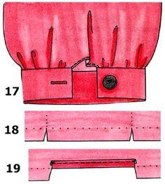 Выполнение разреза или шлицы на рукаве