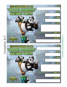 kung fu panda 3 Invitation