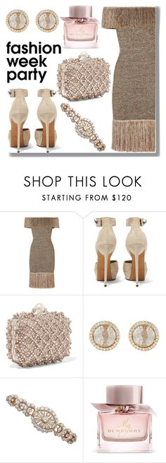 """""""After Party"""" by drigomes ❤ liked on Polyvore featuring Christopher Kane, Givenchy, Jimmy Choo, Monique Péan and Burberry"""